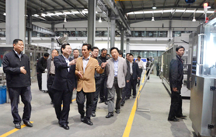 Member of Standing Committee and Minister of the Organization of Zhejiang Province Mr. Hu Heping visits Hangzhou Zhongya Machinery CO., Ltd.